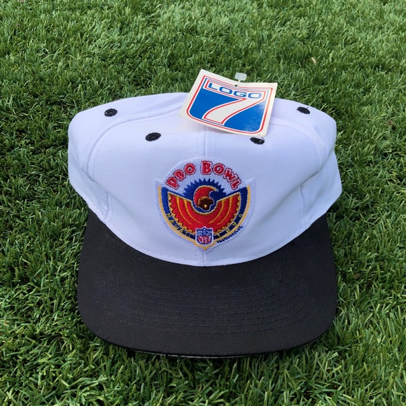 Vintage 1990 Pro Bowl Football Snapback Hat 💙💛❤️ 6e8b18df05e9